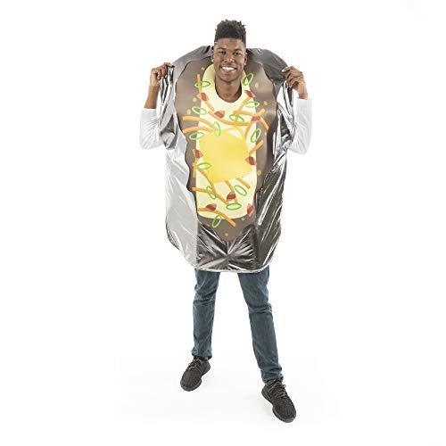 Baked Potato Halloween Costume (Loaded Baked Potato Halloween Costume - Funny Food Adult One-Size Unisex Suit)