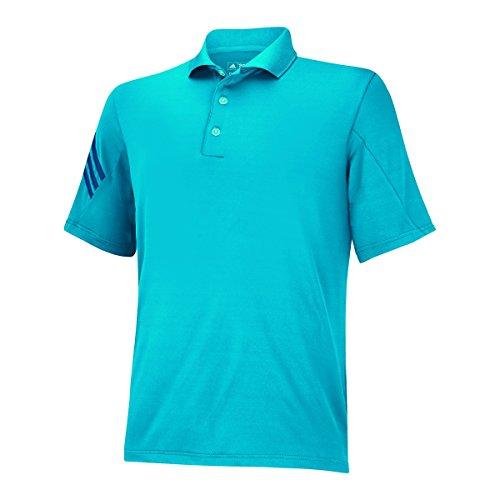 adidas Golf Boy's 3-Stripes Polo, Solar Blue/Midnight, Mediu