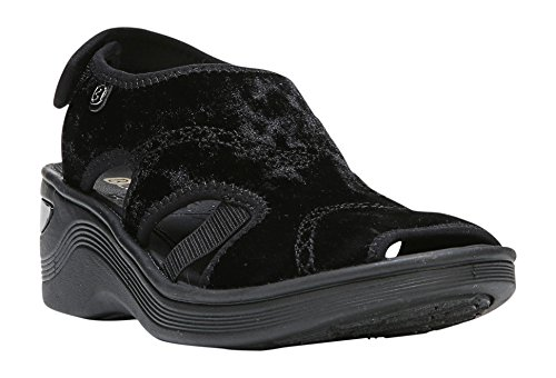 BZees Womens Drama Wedge Sandal, Black Velvet, 9 B(M) US - Breeze Womens Sandals