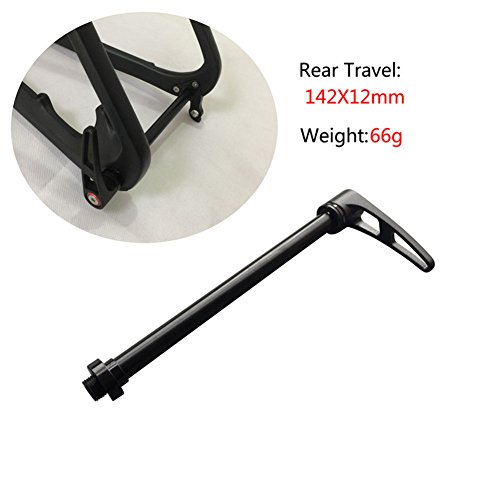 Fasteam Aluminium Alloy Mountain Bike Thru Axle To Quick Release Adapter 142x12mm Thru Axle Bicycle Skewer Only 66g by Fasteam (Image #1)