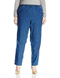 Chic Classic Collection Womens Plus-Size Plus Stretch Denim Pull on Pant