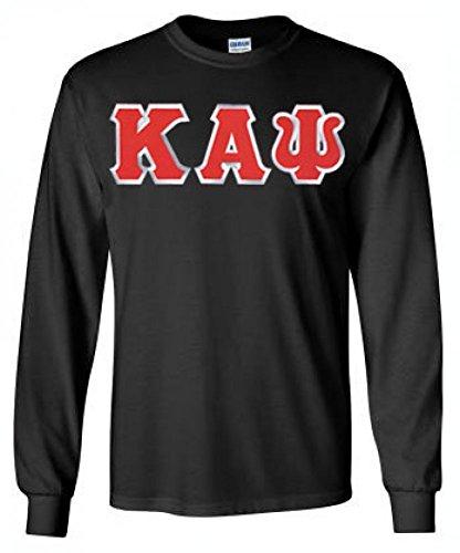 Greekgear Kappa Alpha Psi Fraternity Greek Lettered Long-Sleeve T-Shirt Large Black