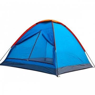 1 Tür 2 Personen Outdoor Camping Strand Freizeit Regendicht Regendicht Freizeit Zelt – Blau 31a5c8