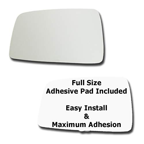 (Mirror Glass + Full Size Adhesive Pad for 2005-2010 Kia Sportage Driver Side Replacement)