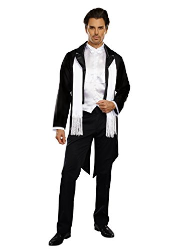 Dreamgirl Men's Party At Gatsby's Costume, Black/White, Medium