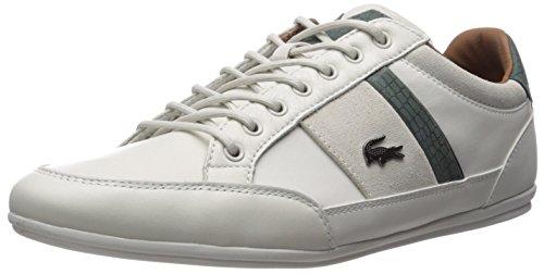 Lacoste Men's Chaymon 417 1 Sneaker, Off White/Green, 11.5 M US