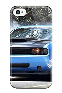 Hot YQzErwn5493FlyCg Case Cover Protector For Iphone 4/4s- Smoke Coming Out Blue Car Tires