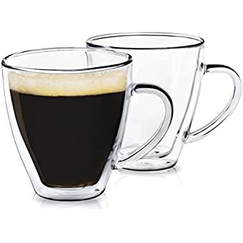 New Glass Double Wall Coffee Mug