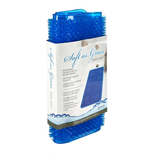 Universal Jetted Shower - AquaTouch Soft As Grass Bath Mat, Blue 13' x 25'