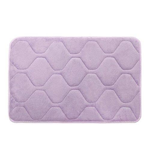 YJYdada Memory Foam Mat Bath Rug Shower Non-slip Floor Carpet (Martha Vintage Wallpaper)