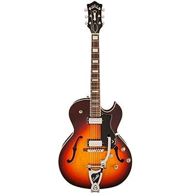 Guild CE-100D Capri with Guild Vibrato Tailpiece Hollow Body Electric Guitar with Case (Antique Burst)