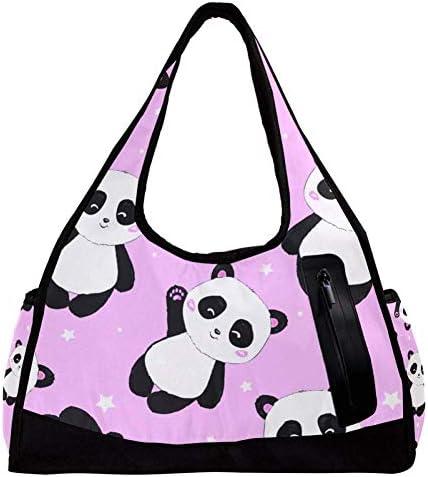 スポーツバッグ パンダ 可愛い キュート 熊猫 ダッフルバッグ ボストンバッグ ジムバック 修学旅行バック 大容量 軽量 アウトドア ユニセックス 人気