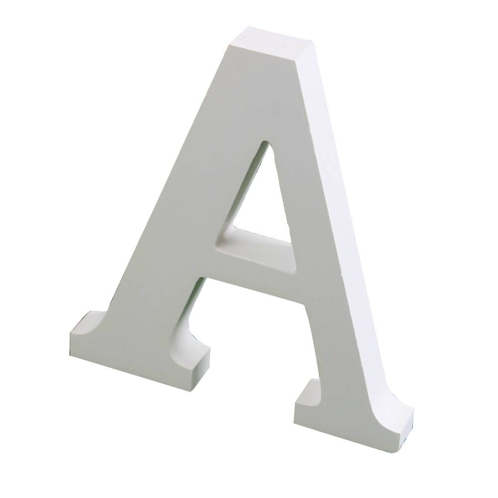 Risbuy Large White Wooden Letters Home Shop Office Wedding Party Crafts Letter Decorations(Hight:15cm/6)