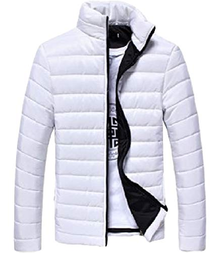 Thickened XINHEO White Warm Zip Collar Parka Colour Long Stand Down Pure Mens Sleeve rRqwBr8