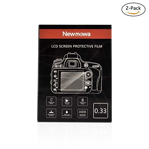 Newmowa Screen Protector for Nikon D500 D5 D800 800E 810 D7100 D7200 DF D4S D610 D600 5200 5100 P530 P510, Samsung WB50F and Fujifilm HS33 HS35, 9H Hardness Waterproof Screen Protector for DSLR Camera