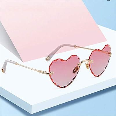 Pink Heart Shape Sunglasses Women Designer NEW Vintage Cat Eye Frame 90S Lady Sun Glasses Shades OM789