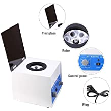 Electric Lab Benchtop Centrifuge,Low-Speed 4000rpm Speed Control Centrifuge Machine 6 Tubes x 20ml with Timer 0-60min