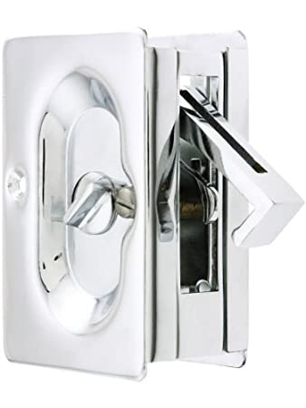 pocket door privacy lock. Emtek Pocket Door Privacy Lock Set, Polished Chrome By 2