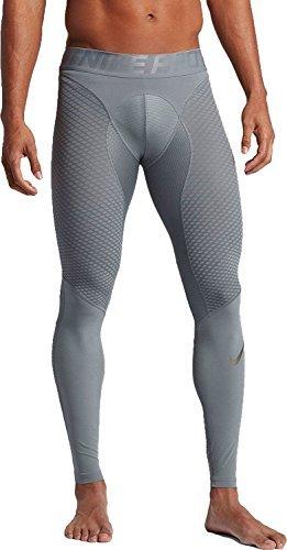 Nike Men`s Pro Zonal Strength Training Tights (Metallic Pewter (839487-065) / Cool Grey, X-Large)  ()