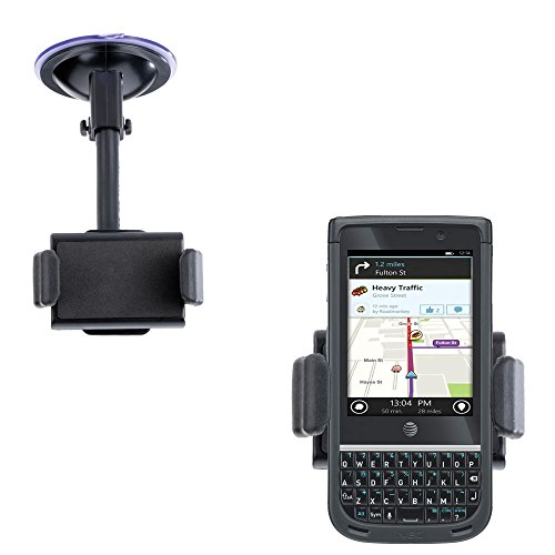 Compact Windshield Mount compatible with NEC Terrain for the Car / Auto - Flexible Suction Cup Cradle Holder for the Vehicle