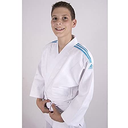 ADIDAS Judo Anzug Club blau, weiße Streifen großer Rabatt