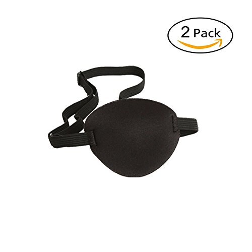 Pirate Eye Patch Eye Mask for Kids Adult,Pack of 2