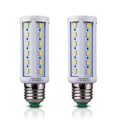 12v E26 LED Bulbs 10 Watts Low Voltage White Color DC 12 Volt Edison Base Light Bulbs for Camper Outdoor RV NiMh Lithium Deep Cycle Battery Emergency Work Lamp 12 v