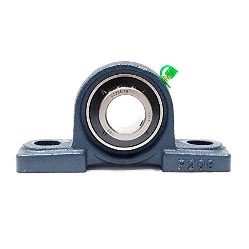 Big Bearing UCP206-18 Pillow Block Bearing, 1-1/8'' Shaft Size, 6.5'' Length, 1.73'' Width, 3.23'' Height, Cast Iron Housing by Big Bearing