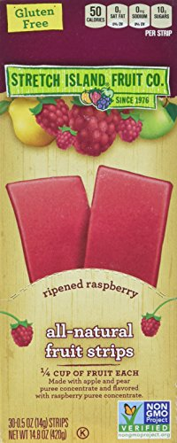 Stretch Island Original Fruit Leather, Ripened Raspberry, 0.5-Ounce Bars (Pack of ()