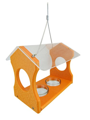 JCs Wildlife Nature Products USA Orange Oriole Poly Lumber Bird Feeder - Jelly Feeder Grape Oriole
