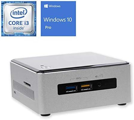 Wi-Fi Card Reader Windows 10 Pro HDMI 8GB RAM Intel Core i3-6100U 2.3GHz 256GB NVMe SSD Mini DisplayPort Bluetooth Intel NUC6i3SYH Mini PC