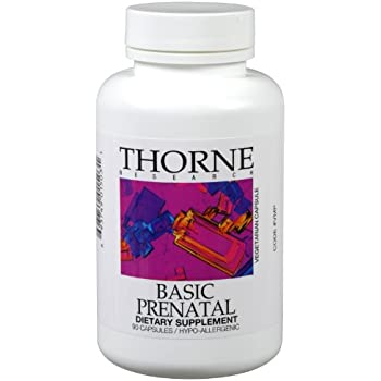 Thorne Research, Basic Prenatal (Original Formula), 90 Vegetarian Capsules