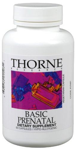 Original 90 Capsules (Thorne Research, Basic Prenatal (Original Formula), 90 Vegetarian Capsules)