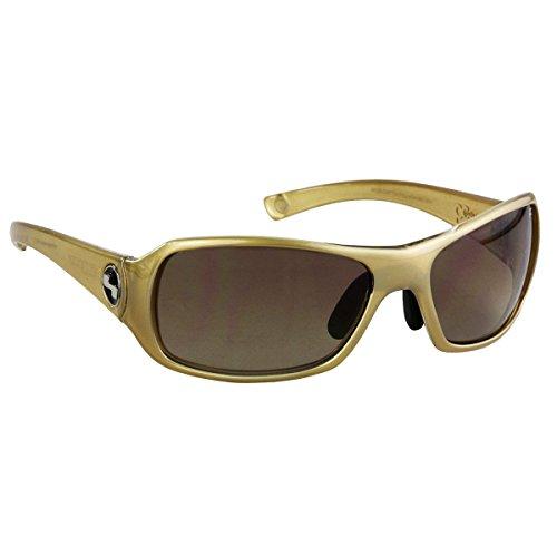 Aluminum Creamer - Sundog Women's Paula Creamer Captiva Sunglasses Crystal Light Aluminum Gold/Brown Flash Mirror
