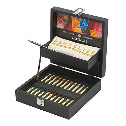 (Sennelier Oil Pastel Black Wood Boox Set, 24 Oil Pastels)