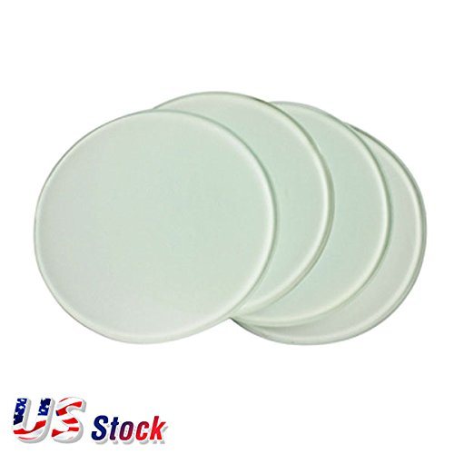 120PCS Diameter 3.9'' Round Sublimation Blank Glass Coaster - US Stock by Ving