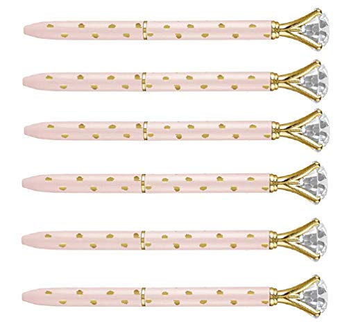 (Creative Brands Santa Barbara Ballpoint Gem Decorative Wedding Pen Gold Polka Dot 5.5