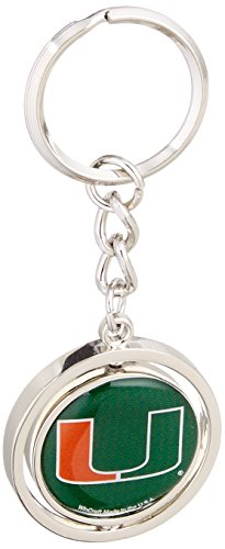 NCAA University of Miami (Florida) 20473013 Spinner Key Ring