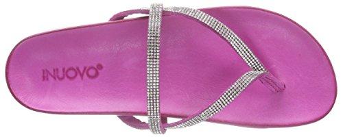 Inuovo 6056 Damen Zehentrenner Pink (WHITE STRASS-FUXIA)
