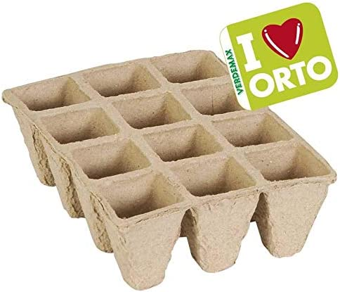 Semillero Biodegradable 6x12x5cm (12 celdas) Pack 6 uds: Amazon.es ...