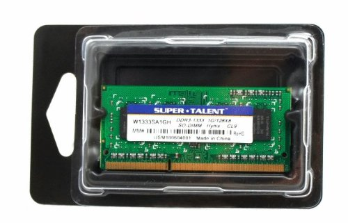 Super Talent DDR3-1333 SODIMM 1GB/128x8 Hynix Chip Notebook -