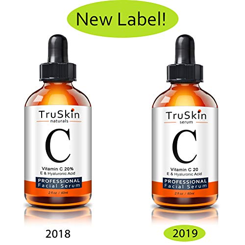 TruSkin Vitamin C Serum for Face [BIG 2-OZ Bottle] Topical Facial Serum with Hyaluronic Acid & Vitamin E, 2 fl oz.