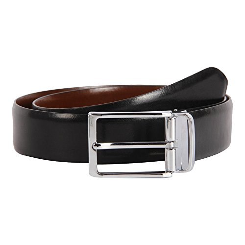 Affilare Men's Genuine Italian Leather Dress Belt Black Brown Reversible 12RB562BB, Black Brown (Width-35mm), 35-36 inches from Affilare