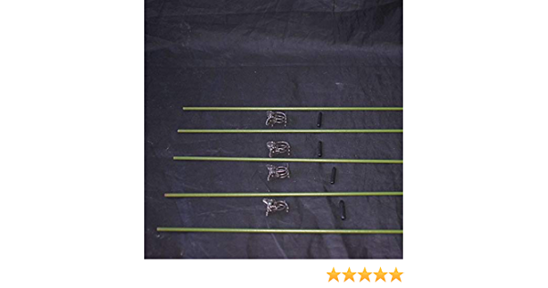 Vinyl Coated Steel Plant Stakes 12 gauge Wire 15/'/' w//clips /& rubber t 5 Pack