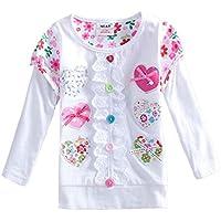 VIKITA Kid Girl Flower Butterfly Short Sleeve T Shirt Tee S2111 for 2-6 Years