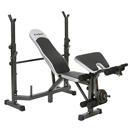 Kinbor Multi-station Weight Bench Adjustable Workout Bench with Leg Extension Incline Flat Decline Sit Up Fitness Equipment for Gym or Home Exercise by Kinbor