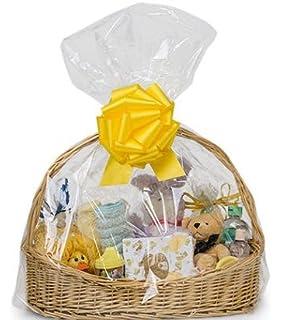 Amazon.com: extra large Jumbo size Clear Cellophane Bags Basket ...