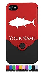 Engraved iPhone 4/4S Case/Cover - TUNA FISH, SPORTFISHING, FISHERMAN - Personalized for FREE (Send us an Amazon email after purchase with your engraving request)