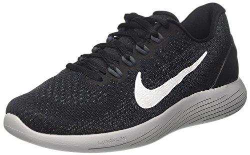 Nike Men's Lunarglide 9 Running Shoe Black/White/Dark Grey/Wolf Grey Size 7.5 M US
