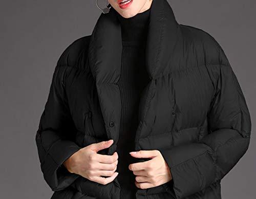 Dimensioni Piumino Donna Invernale Thicken S Nero Cappotto Giallo colore Winter Qkdsa Da H7qwzz